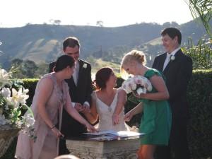 WEDDING Sahra Ji and Luke signing - Tamzin