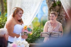 bride and celebrant funny moment (Medium)