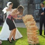 celebrant, cherish, logan, beenleigh, windaroo, waterford, queensland, brisbane, gold coast, jenga, giant, bride, groom, outdoor, game, fun,